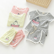 Children wear casual Suit Shorts Girls baby baby clothes 2017 summer new C363 Q.
