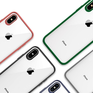 Image 3 - Original Xiaomi Phone Case For iPhone X XR XS Max 8 7 Plus Transparent TPU PC Shell Bag Shockproof Colorful Frame Back Cover