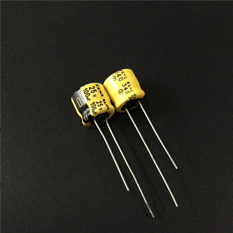 10pcs 100uF 25V ELNA Yellow 8x7mm 25V100uF Audio Capacitor