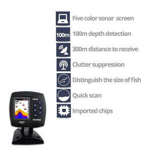 Image 3 - Lucky Remote Control Fish Finder Echo sounder FF918 CWLS Color Wireless Sensor for Fishing 300m/980ft Operating Fishfinder #C5