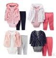 3 шт./компл. одежда для новорожденных приданое комплект 0 - 2 лет осень и зима детские одежда бесплатная доставка