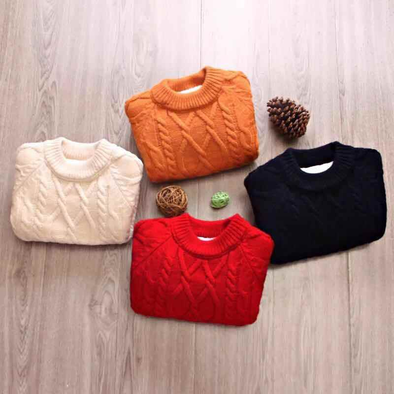 Fleece Dikker Kinderen Truien Jongens Meisjes Gebreide Truien Uitloper Winter Warm Truien Trui Kinderkleding BC258-1