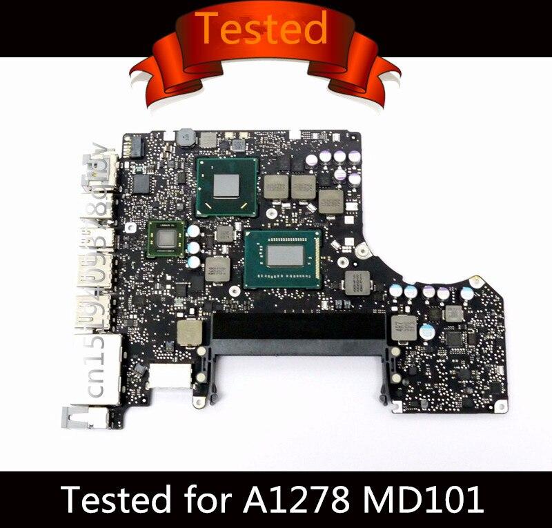 Testé la Carte Mère pour Macbook Pro 13 Ordinateur Portable A1278 Carte Logique i5 2.5 GHz i7 2.9 GHz Carte Mère 820-3115-B 2012 MD101 MD102