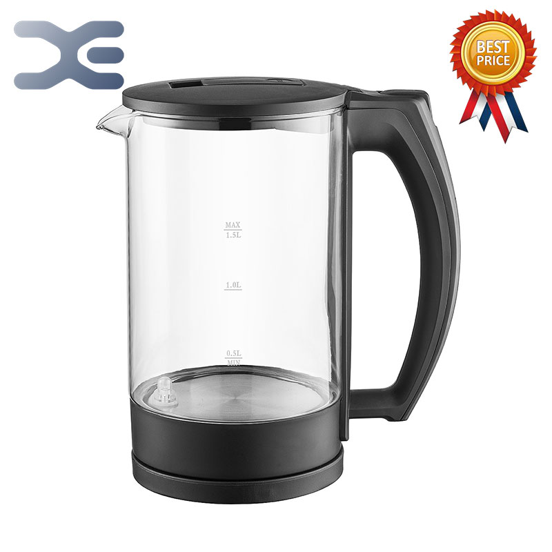 1.5L Water Kettle Glass Handheld Instant Heating Electric Water Kettle Auto Power-off Protection Wired Kettle FY-588A1.5L Water Kettle Glass Handheld Instant Heating Electric Water Kettle Auto Power-off Protection Wired Kettle FY-588A