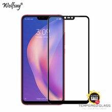 2PCS Full Glue Glass For Xiaomi Mi 8 Lite Screen Protector Tempered Glass For Xiaomi Mi 8 Lite Phone Film For Xiaomi Mi 8 Lite asling tempered glass screen film for xiaomi mi 8