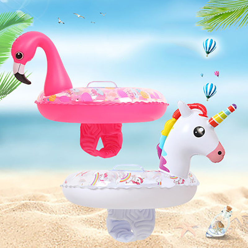 2018 Inflatable Unicorn Swimming Ring Baby Seat Children Ride-On Flamingo Pool Float Swimming Circle Raft Summer Party Water Toy