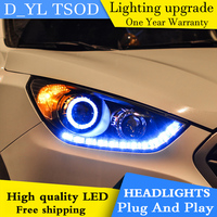 Car Styling Headlights for Hyundai IX35 10 13 LED Headlight for IX35 Head Lamp LED Daytime Running Light LED DRL Bi Xenon HID