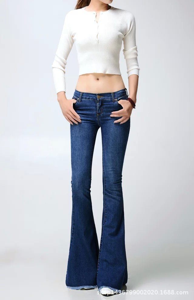 Online Buy Wholesale jeans flared women from China jeans flared ...