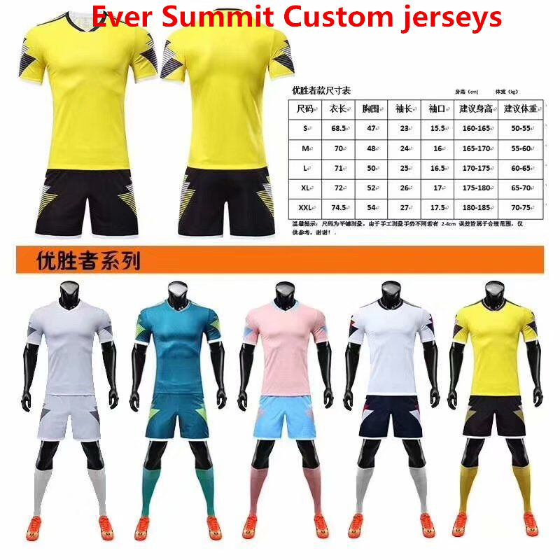 the latest a9418 5c6c0 Ever Summit Custom Soccer Jersey 2019 2020 Football Shirts Mbappe Training  Sets Blank Version Tracksuits Adult Ronaldo de Futbol