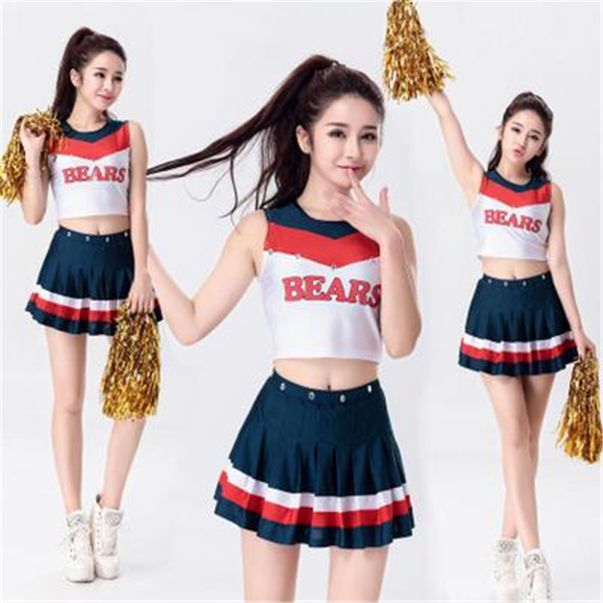 free shipping Quanzhou Walson Ladies Glee Cheerleader Costume School Girl Full Outfits Fancy Dress Uniform S-3XL