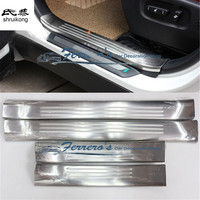 Free shipping Car Styling stainless steel scuff plate inside door sill 4pcs/set car accessories for 2009 2014 Lexus RX270 350