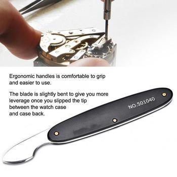 Profesjonalny zegarek otwieracz do butelek z powrotem skrzynki pokrywa do usuwania podważ nóż wysokiej prędkości stali nierdzewnej zegarek wymiana baterii narzędzie do naprawy zegarmistrz b tanie i dobre opinie ZJCHAO CN (pochodzenie) TOOLS High-speed Steel 0 00 Watch Opener Knife Watch Back Case Remover Knife Narzędzia do naprawy i zestawy