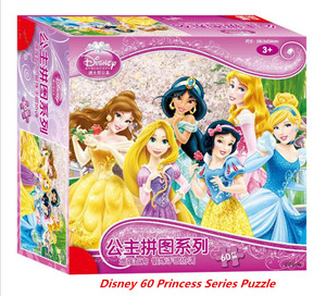 Image 1 - Disney authorized genuine princess / car mobilization 60 pieces of puzzle children toys Boy girl toy birthday gift high quality