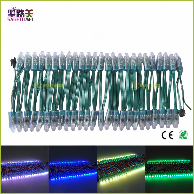 Active Waterproof Ip68 Wholesale 100pcs Led Module String Green Wire Digital Led Pixel Light Full Color Dc5v/dc12v 12mm Ws2811 Ic Rgb Led Lighting