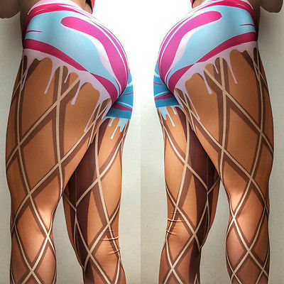 High Elastic Muffin Dots 3D Printing Leggings