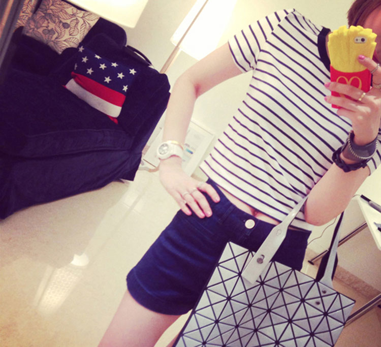 HTB1o8KvXywIL1JjSZFsq6AXFFXaq - FREE SHIPPING Ladies T shirt Sexy Crop Tops Striped Short JKP130