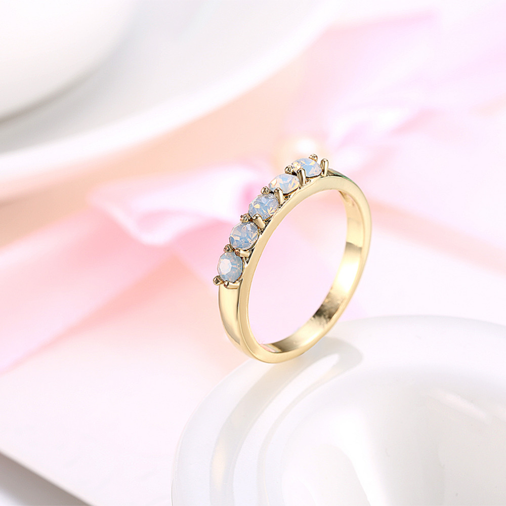 Elegant Gold Filled Opal Ring Unique Design Vintage Party Wedding ...