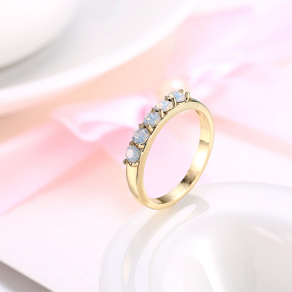 Elegant Gold Filled Opal Ring Unique Design Vintage Party Wedding ...