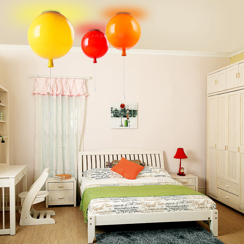 Фото Balloon Glass Ball lamp Ceiling Lights Modern Restaurant Bubble colorful Light lamps Living Bedroom Child baby kids lighting