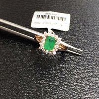 2017 Hot Sale Anillos Qi Xuan_fine Jewelry_natural Emeralds Stones Fashion Rings_plated Rose Woman Rings_factory Directly Sales
