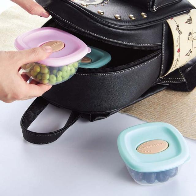 4Pcs Baby Food Containers Snack Box Kids Toddler Milk Powder Formula Dispenser BPA Free Blocks Freezer Storage Containers 4oz/PC