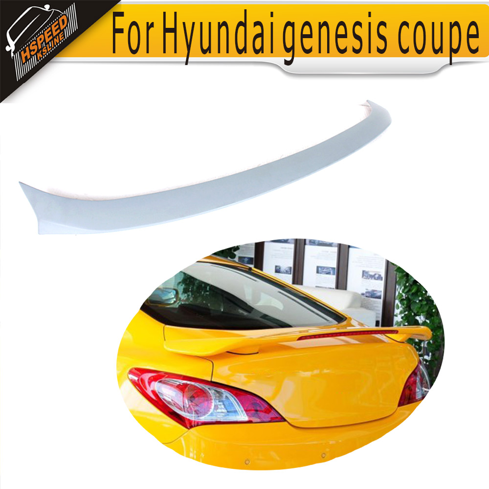 ФОТО High quality PU boot lip ,Auto car Unpainted grey primer trunk spoiler for Hyundai(fit for Hyundai genesis coupe 10-12)
