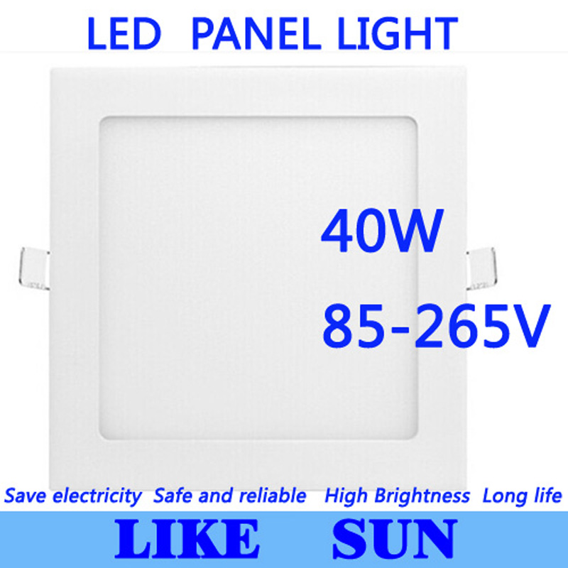 40W CREE LED Recessed Ceiling Panel Down Lights Bulb with driver Quartet with tracking number 9 24w recessed led horizontal down light with external driver ac100 240v color white 2373lm 18pcs lot promotion free shipping