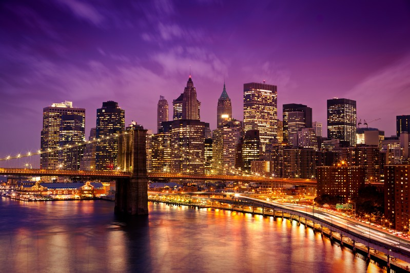 New York City Skyline Night backdrop Vinyl cloth High quality Computer printed party photo studio background