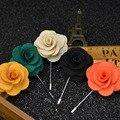 Bouquet Broche de casamento para Homens Broche de Flor para Os Homens Terno de Lapela Floral Broches de Pino de Multicamadas de Tecido Feito À Mão