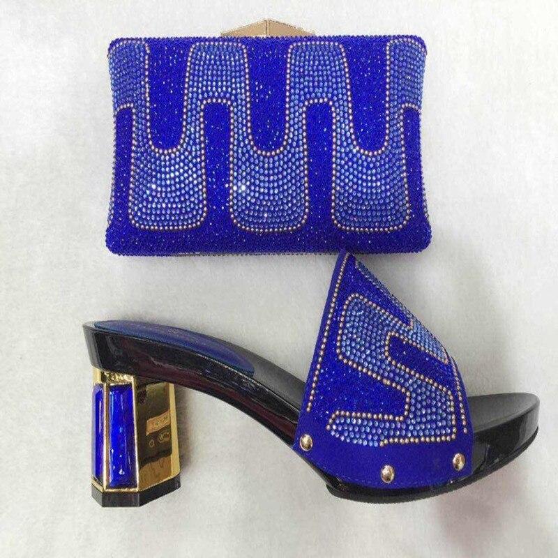 ФОТО African Women Matching Italian Shoe and Bag Set PPI32 Women High Quality Matching Italian Shoes and Bags