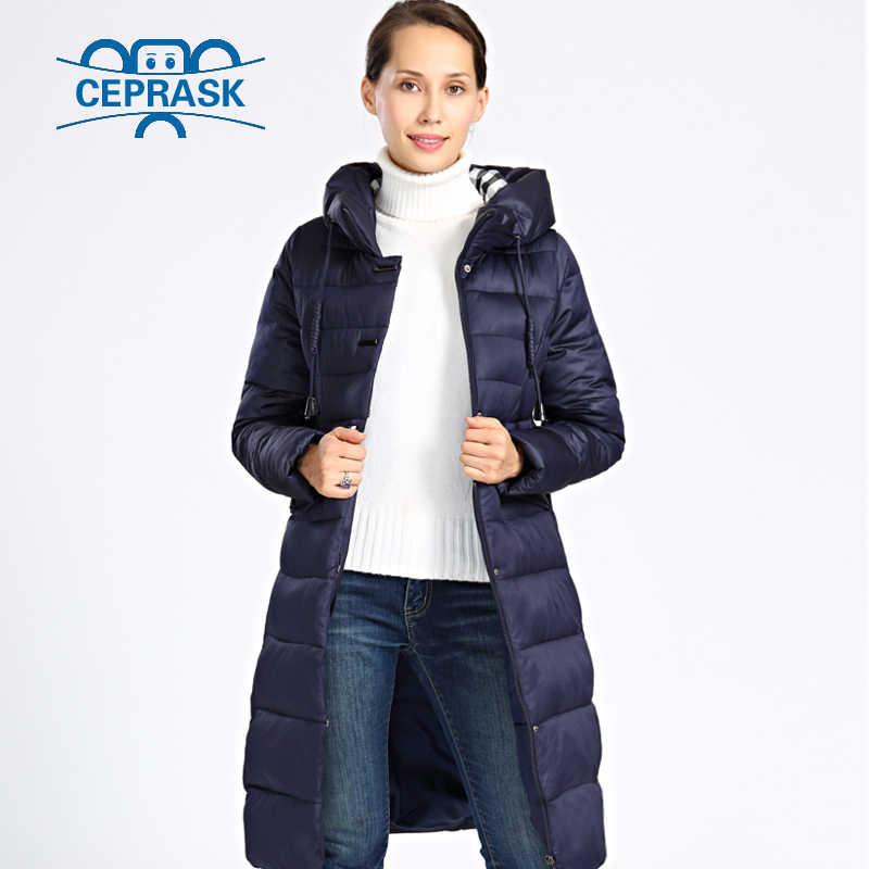 2019 neue Winter Jacke Frauen Plus Größe Lange Dicke Frauen Winter Mantel Mit Kapuze Hohe Qualität Warme Unten Jacken Parka Femme ceprask