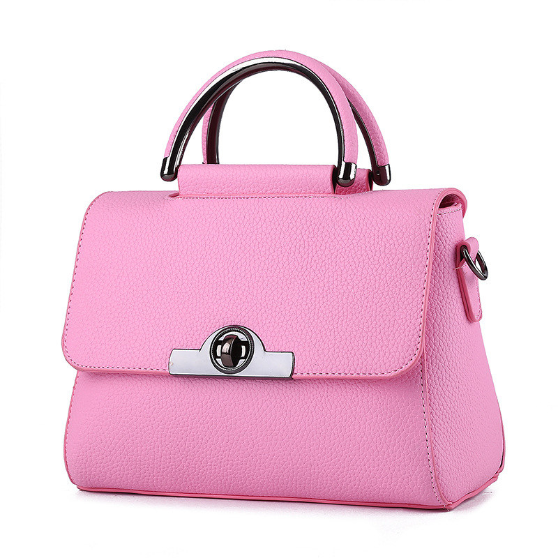 Fashion PU Women Handbag Pink Cusual Shoulder Bag Twist Turn Lock Crossbody Messenger цена