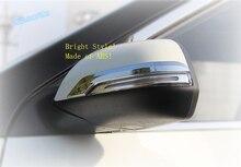 Lapetus Car Styling ABS Door Mirror Protect Strip Cover Exterior Trim 2 Pcs / Set Fit For Hyundai Creta IX25 2015 2016 2017 цена 2017