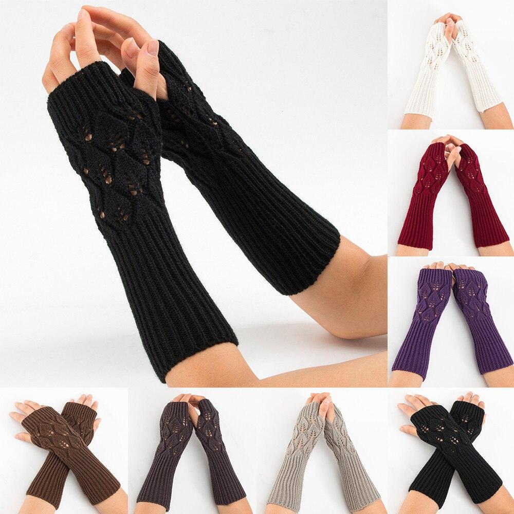 Frauen Winter Handgelenk Arm Wärmer Raute Gestrickte Finger Handschuhe Handschuh 10,26 Verschiedene Stile Damen-accessoires