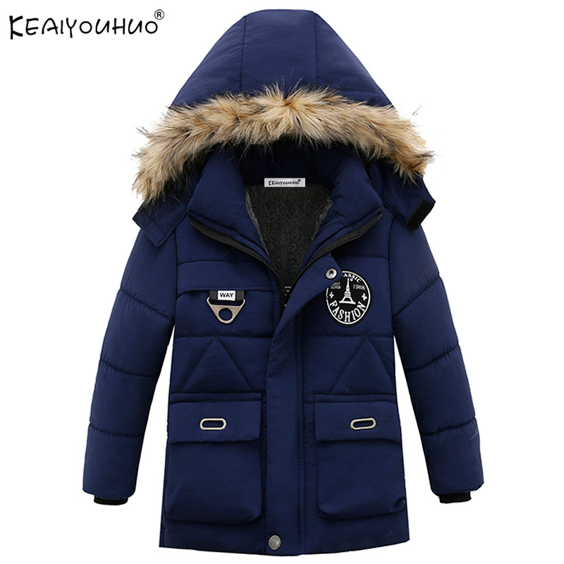 Children Clothing Winter Boys Coats Long Sleeve Down Jackets For Boys Clothes Kids Outerwear Hooded Cotton Fashion Coats Jacket baby boy s fashion hooded coats 2017 winter cartoons little monster cute long sleeve jackets children s clothing warm outerwear