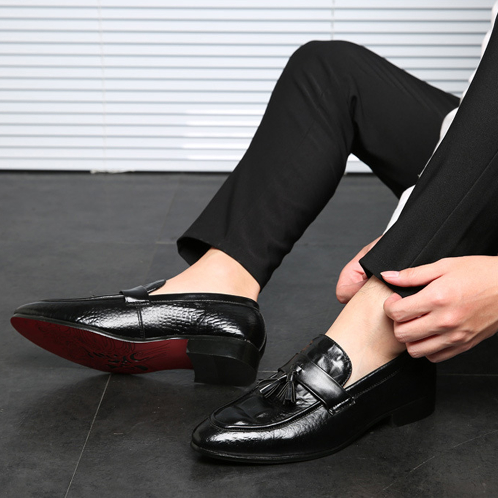 Dropshipping En Appartements red Hommes Mode Cuir Respirant Chaussures 38 Taille Grande 48 yellow Black Buisness Pu anxiu M Gland Doux Mocassins awvBqTC