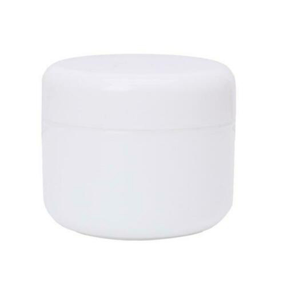 1 шт. бутылки многоразового использования Пластик пустой Макияж Jar горшок крем для лица/лосьон/контейнер для косметики 5 цветов 10/20/30/50/100/150g - Цвет: white