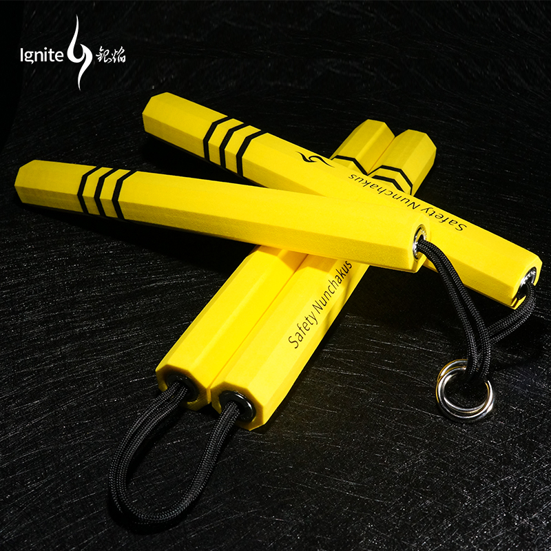 Classics Eight Arrises Sponge Nunchakus Safety Drill Nunchaku