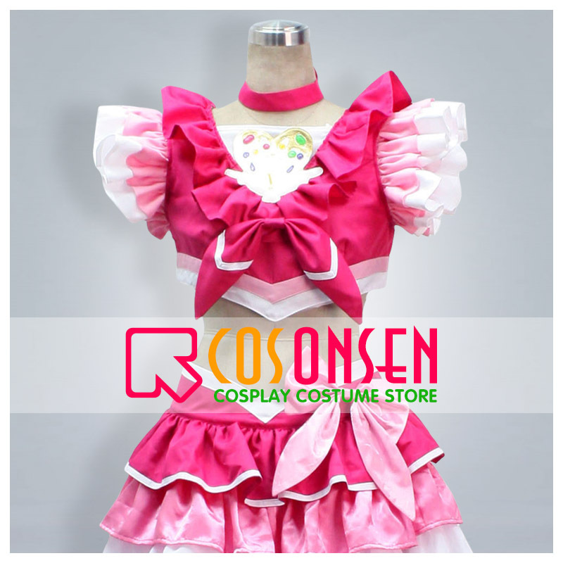 COSPLAYONSEN Suite PreCure Cure Melody Hojo Hibiki Cosplay Costume Red White Color All Size