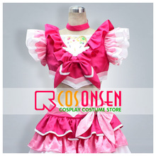 COSPLAYONSEN Suite PreCure Cure Melody Hojo Hibiki Cosplay Costume Red White Color All Size(China)