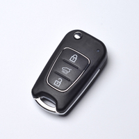 Auto Car Key Flip Fold Key Shell For Kia 3 Buttons Remote Key Shell Replacement With Logo Free Shipping