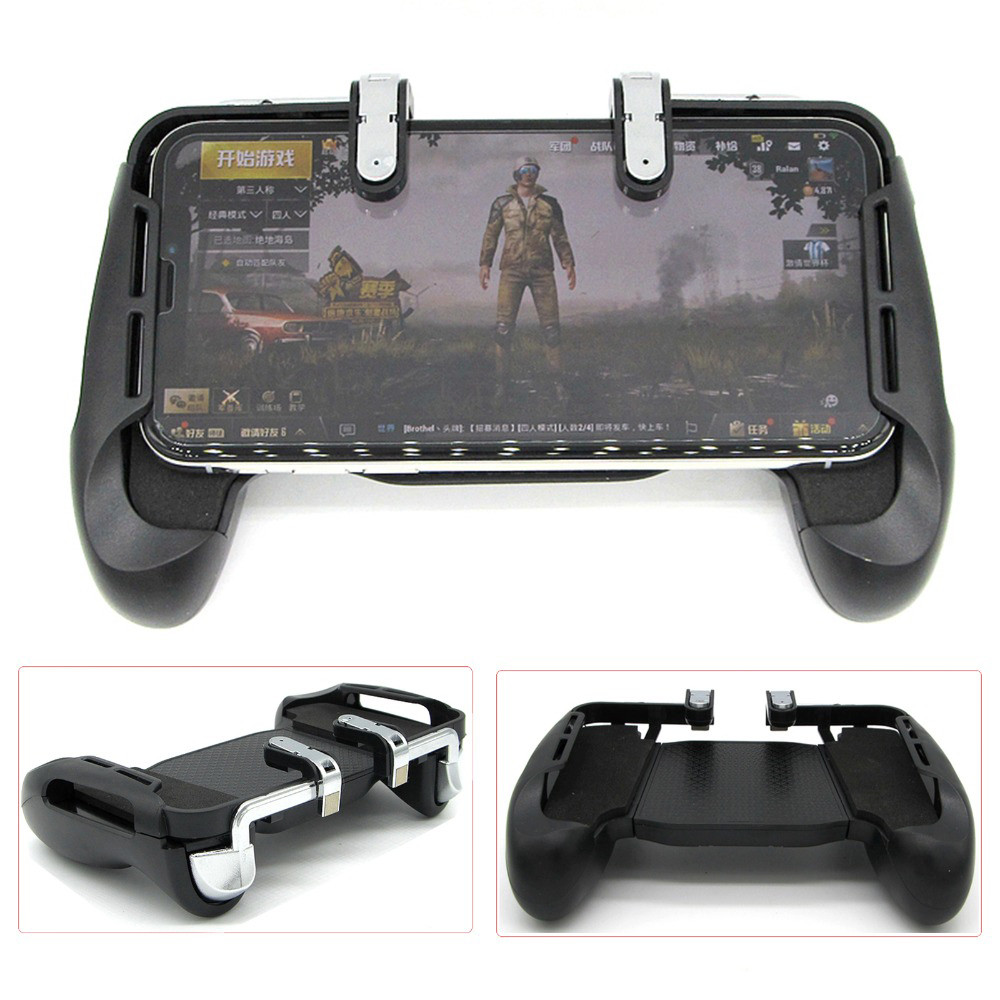For PUBG Mobile Game Controller Shooter Trigger Fire Button + Handle Holder