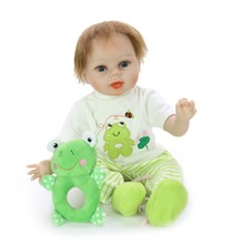Handsome boy Bebe Doll Reborn Realistic rooted hair Newborn Gift 56 cm For Kids Birthday Girls alive soft Silicone Toys