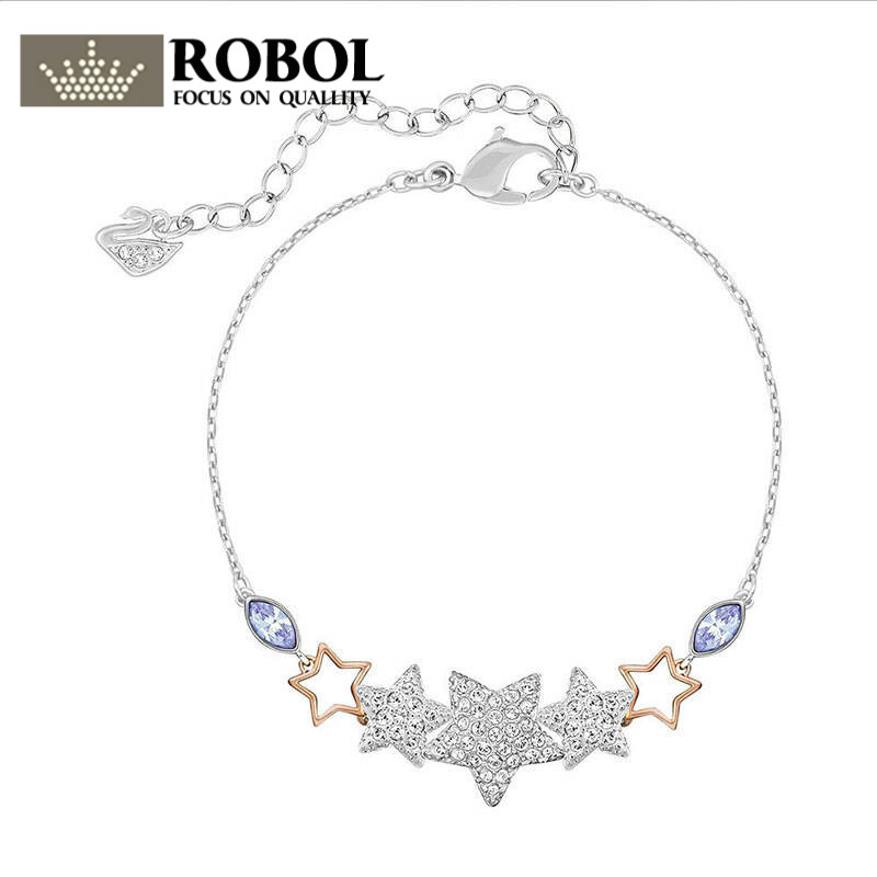 def4de99e2e3 ROBOL 2018 nueva pulsera de Estrella de Plata 5179189 parejas de moda de  diseño de joyería