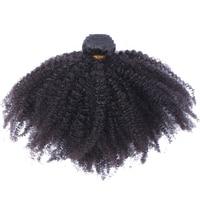 Afro Crépus Bouclés Brésiliens Cheveux Weave Bundles 100% de Cheveux Humains Extensions Remy Naturel Couleur 1 PC Seulement Ensoleillé Reine Cheveux produits