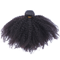 Afro Kinky Curly Brazilian Hair Weave Bundles 100 Human Hair Extensions Remy Natural Color 1 PC