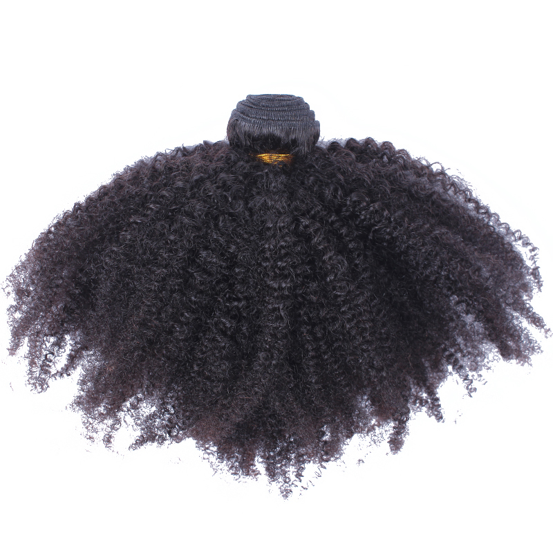 Afro Kinky Curly Brazilian Hair Weave Bundles 100% Human Hair Extensions Remy Natural Color 1 PC Only Sunny Queen Hair Products