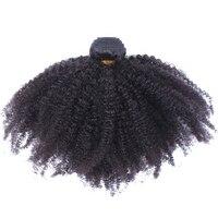 Afro Verworrene Lockige Brasilianische Haar-webart Bundles 100% Menschenhaar-verlängerungen Remy Natural Color Schiff Frei Sunny Königin-haarpflege