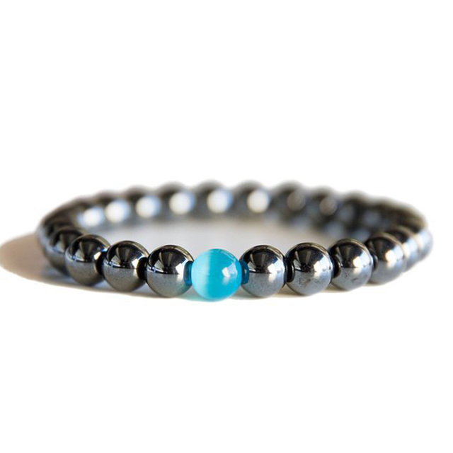 Women Black Cool Bracelet Beads Hemae Stone Therapy Health Care Men S Jewelry