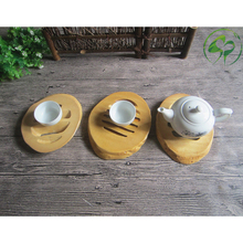 Bamboo Insulation Pad Table Decorative Plate Trivet Thickening High Mat Heat Insulated Kitchen